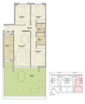 Plano-Nucleo4-PlantaBaja-A-Apartamentos-Terrazas-PuertoReal